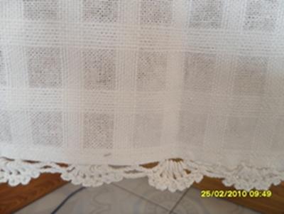 ผ้าม่านหน้าต่างผ้าฝ้ายปักดอกถักโครเชร์หัวผ้าม่านและชายผ้าม่านแบบสอด 14