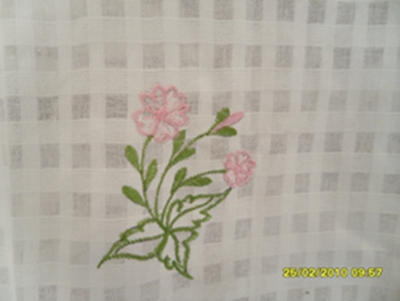 ผ้าม่านหน้าต่างผ้าฝ้ายปักดอกถักโครเชร์หัวผ้าม่านและชายผ้าม่านแบบสอด 13