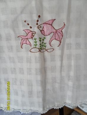 ผ้าม่านประตูผ้าฝ้ายปักดอกถักโคเชร์ 6
