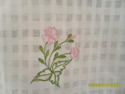 ผ้าม่านหน้าต่างผ้าฝ้ายปักดอกและหัว-ชายผ้าถักโคเชร์แบบคอกระเช้า 19