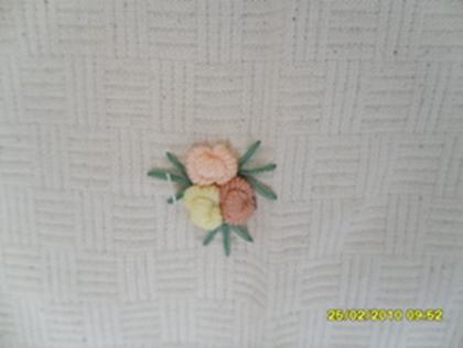 ผ้าม่านประตูผ้าฝ้ายปักดอกถักโคเชร์ 8