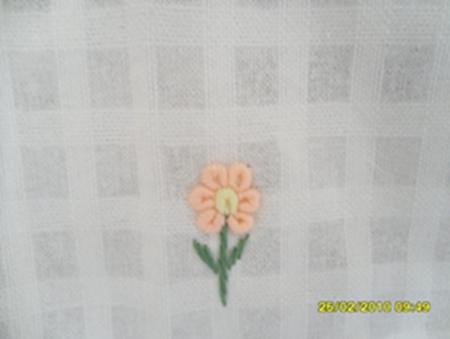 ผ้าม่านประตูผ้าฝ้ายปักดอกถักโคเชร์ 9