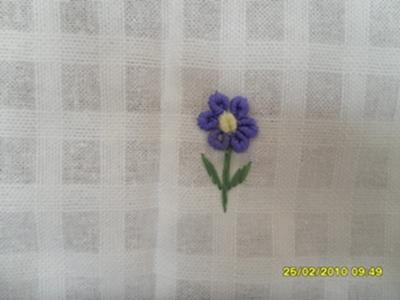 ผ้าม่านประตูผ้าฝ้ายปักดอกถักโคเชร์ 10