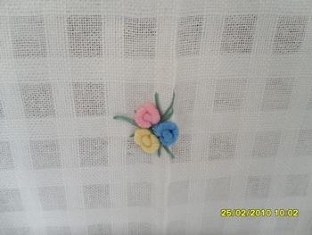 ผ้าม่านประตูผ้าฝ้ายปักดอกถักโคเชร์ 11