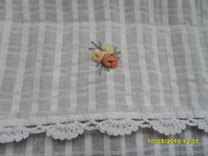 ผ้าม่านหน้าต่างผ้าฝ้ายปักดอกถักโครเชร์ครึ่งหน้าต่างแบบสอด 9