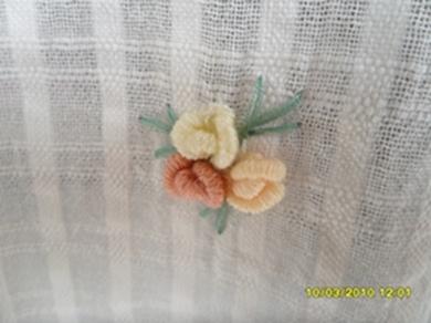 ผ้าม่านหน้าต่างผ้าฝ้ายปักดอกถักโครเชร์ครึ่งหน้าต่างแบบสอด 10