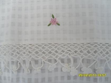 ผ้าม่านหน้าต่างผ้าฝ้ายปักดอกถักโครเชร์หัวผ้าม่านและชายผ้าม่านแบบสอด 12