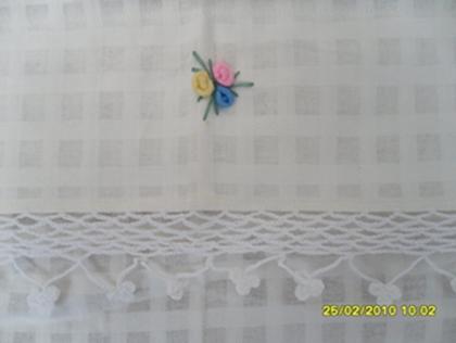 ผ้าม่านหน้าต่างผ้าฝ้ายปักดอกถักโครเชร์หัวผ้าม่านและชายผ้าม่านแบบสอด 17