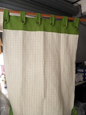 ผ้าม่านประตูผ้าฝ้ายทอมือแบบคอกระเช้า 5