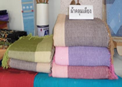 ผ้าคลุมเตียงผ้าฝ้ายทอมือเตียงเดี่ยว 5 ฟุต(คลุมเตียง 3.5 ฟุต)