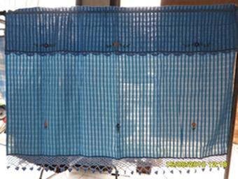 ผ้าม่านหน้าต่างผ้าฝ้ายปักดอกถักโครเชร์ครึ่งหน้าต่างแบบสอด 14