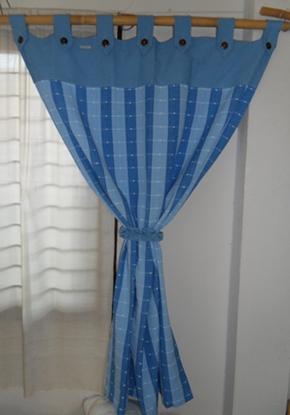 ผ้าม่านหน้าต่างผ้าฝ้ายทอมือแบบคอกระเช้า