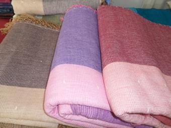 ผ้าคลุมเตียงผ้าฝ้ายทอมือเตียงคู่ 8 ฟุต(คลุมเตียง 6 ฟุต)