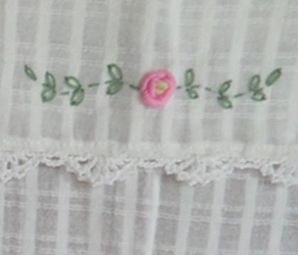 ผ้าม่านหน้าต่างผ้าฝ้ายปักดอกถักโครเชร์ครึ่งหน้าต่างแบบสอด 5