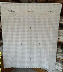 ผ้าม่านหน้าต่างผ้าฝ้ายปักดอกถักโครเชร์หัวผ้าม่านและชายผ้าม่านแบบสอด 28