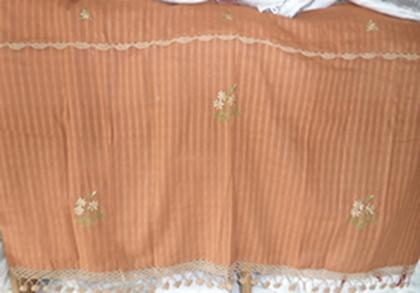 ผ้าม่านหน้าต่างผ้าฝ้ายปักดอกถักโครเชร์ครึ่งหน้าต่างแบบสอด 12
