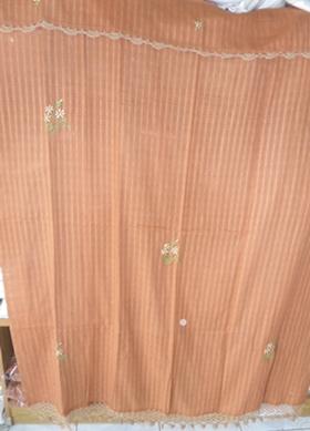 ผ้าม่านหน้าต่างผ้าฝ้ายปักดอกถักโครเชร์หัวผ้าม่านและชายผ้าม่านแบบสอด 41