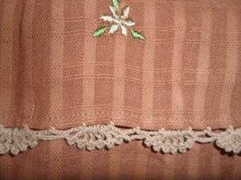 ผ้าม่านหน้าต่างผ้าฝ้ายปักดอกถักโครเชร์หัวผ้าม่านและชายผ้าม่านแบบสอด 42