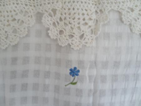 ผ้าม่านหน้าต่างผ้าฝ้ายปักดอกถักโครเชร์หัวผ้าม่านและชายผ้าม่านแบบสอด 7