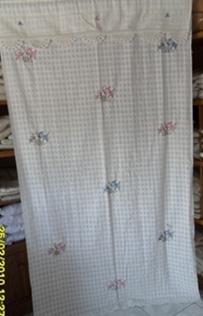 ผ้าม่านหน้าต่างผ้าฝ้ายปักดอกถักโครเชร์หัวผ้าม่านและชายผ้าม่านแบบสอด 19