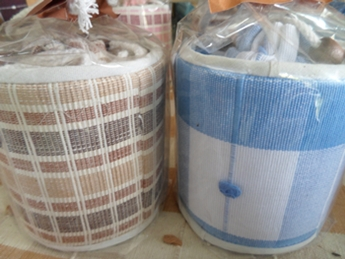 ผ้าหุ้มกล่องกระดาษใส่ทิชชูแบบกลมไม่มีหัวช้าง 2