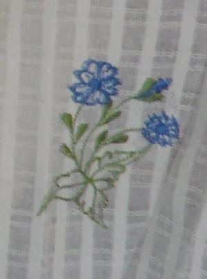 ผ้าม่านหน้าต่างผ้าฝ้ายปักดอกถักโครเชร์ครึ่งหน้าต่างแบบสอด 2