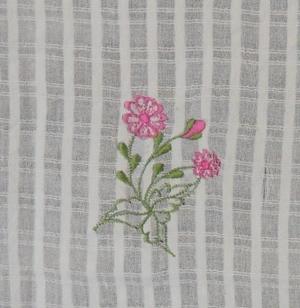 ผ้าม่านหน้าต่างผ้าฝ้ายปักดอกถักโครเชร์ครึ่งหน้าต่างแบบสอด 1