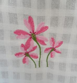 ผ้าม่านหน้าต่างผ้าฝ้ายปักดอกถักโครเชร์หัวผ้าม่านและชายผ้าม่านแบบสอด 37