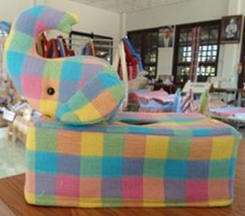 ผ้าหุ้มกล่องกระดาษใส่ทิชชูแบบสี่เหลี่ยมตุ๊กตาสัตว์ต่าง ๆ