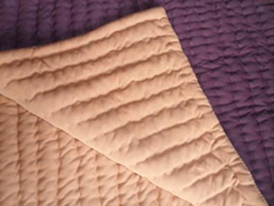 ผ้าปูนอนผ้าพื้นสีน้ำตาล(ยัดแน่นหนาอย่างดี)