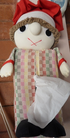 ผ้าหุ้มกล่องกระดาษทิชชูสี่เหลี่ยมตุ๊กตาคนแบบแขวน