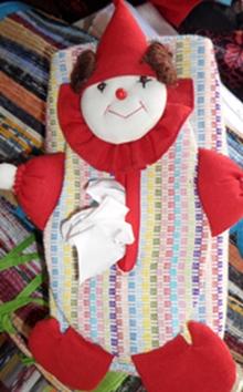 ผ้าหุ้มกล่องใส่กระดาษทิชชูผ้าฝ้ายทอมือตุ๊กตาโจ๊กเกอร์