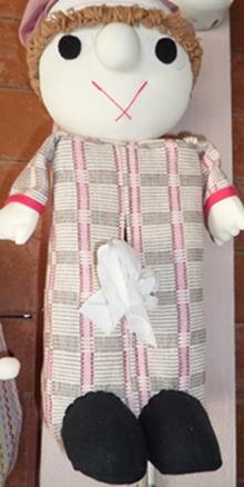 ผ้าหุ้มกล่องกระดาษทิชชูสี่เหลี่ยมตุ๊กตาคนแบบแขวน 1