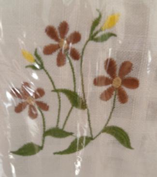 ผ้าม่านหน้าต่างผ้าฝ้ายปักดอกถักโครเชร์หัวผ้าม่านและชายผ้าม่านแบบสอด 2