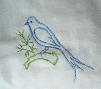 ผ้าม่านหน้าต่างผ้าฝ้ายปักดอกและหัว-ชายผ้าถักโคเชร์แบบคอกระเช้า 24