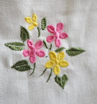 ผ้าม่านหน้าต่างผ้าฝ้ายปักดอกและหัว-ชายผ้าถักโคเชร์แบบคอกระเช้า 27
