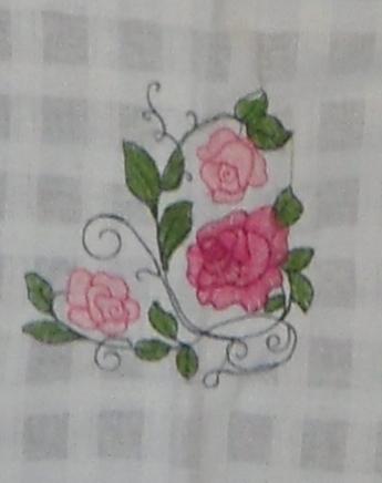ผ้าม่านหน้าต่างผ้าฝ้ายปักดอกและหัว-ชายผ้าถักโคเชร์แบบคอกระเช้า 31