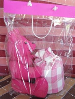 ผ้าหุ้มกล่องกระดาษทิชชูกลมตุ๊กตาหมีผ้าฝ้ายทอมือ 1
