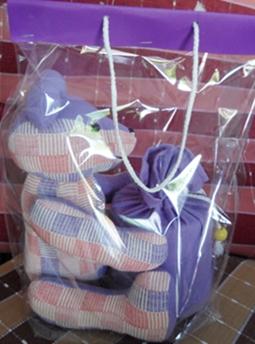 ผ้าหุ้มกล่องกระดาษทิชชูกลมตุ๊กตาหมีผ้าฝ้ายทอมือ 3