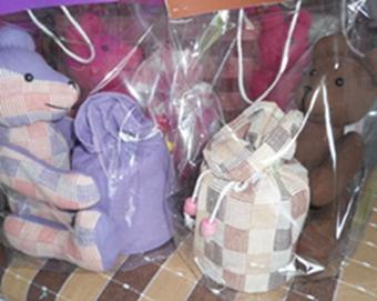 ผ้าหุ้มกล่องกระดาษทิชชูกลมตุ๊กตาหมีผ้าฝ้ายทอมือ 6
