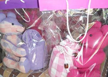 ผ้าหุ้มกล่องกระดาษทิชชูกลมตุ๊กตาหมีผ้าฝ้ายทอมือ 5
