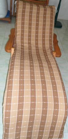 เบาะที่นอนเก้าอี้เอนนอนผ้าฝ้ายทอมือ(เบาะเก้าอี้ยาว)