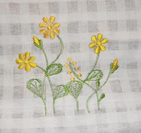 ผ้าม่านหน้าต่างผ้าฝ้ายปักดอกและหัว-ชายผ้าถักโคเชร์แบบคอกระเช้า 33