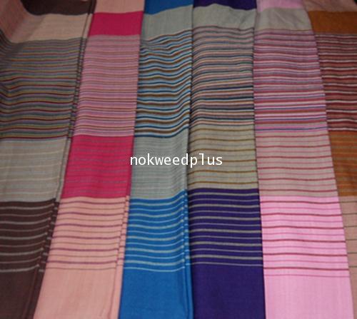 ผ้าถุงผ้าฝ้ายทอมือลายโบราณ(ไทลื้อ)ลำพูน