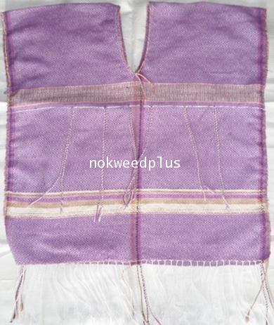 เสื้อกะเหรี่ยงผ้าฝ้ายทอมือยกดอกลายไทย