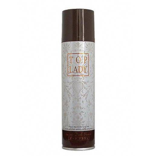 Pre-order : Top Lady Instant hair color spray 100g. ~ สีน้ำตาลเข้ม