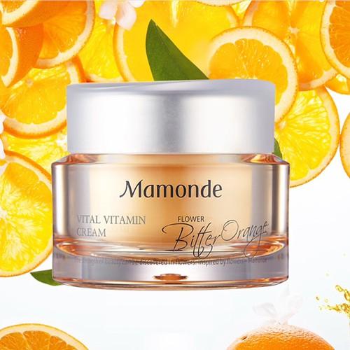 Pre-order : *ส่งฟรีลงทะเบียน* Mamonde Vital Vitamin Cream 50g.