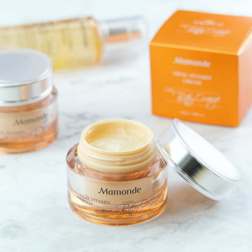 Pre-order : *ส่งฟรีลงทะเบียน* Mamonde Vital Vitamin Cream 50g. 1