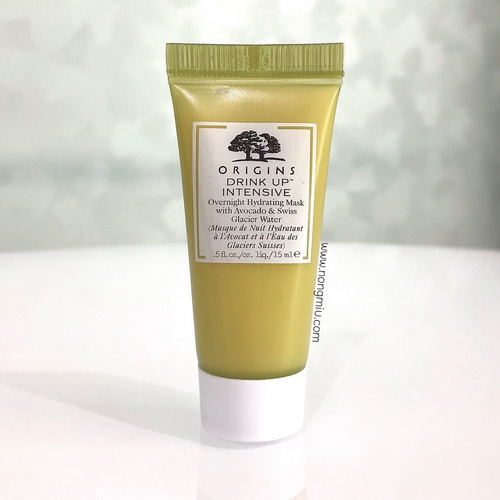 Tester : ORIGINS Drink Up Intensive Overnight Hydrating Mask with Avocado Swiss Glacier 15ml.