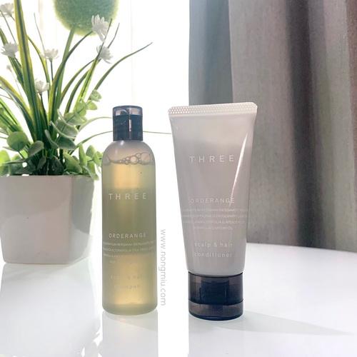 Tester : THREE ORDERANGE Scalp and Hair Shampoo 50ml. + Conditioner 40g.